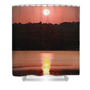 Ripples Of Sunset Shower Curtain