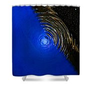 Ripples Of Time And Space Shower Curtain