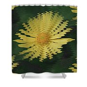 Rippling Daisies  Shower Curtain