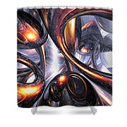 Rippling Fantasy Abstract Shower Curtain