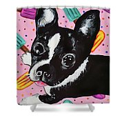 Popsicle Pup Shower Curtain