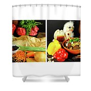 Rise And Pilaf - Collage Shower Curtain
