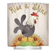 Rise And Shine-jp2836 Shower Curtain