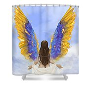 Rise Shower Curtain by Brandy Woods