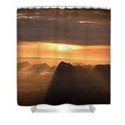 Rise Light Life Shower Curtain