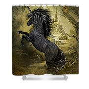 Rise Of The Unicorn Shower Curtain