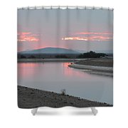 Rise Of Two Phoenixes Shower Curtain