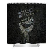 Rise Power Shower Curtain