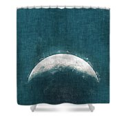 Rise Up Moon Shower Curtain