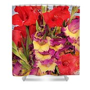 Rising Flowers Shower Curtain