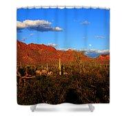 Rising Moon In Arizona Shower Curtain