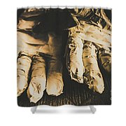 Rising Mummy Hands In Bandage Shower Curtain