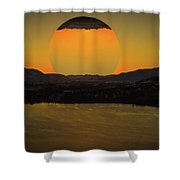Rising On Kal Shower Curtain by Rod Sterling