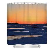 Rising On The Horizon  Shower Curtain