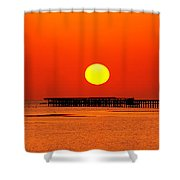 Rising Sun In Nabq Bay Shower Curtain