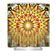 Rising Sun Mandala Shower Curtain