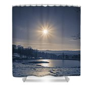Rising Sun On A Cold Winter Morning Shower Curtain