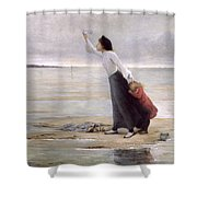 Rising Tide Shower Curtain by Uranie Colin Libour