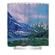 Rising Wolf Mountain And Two Medicine Lake Shower Curtain