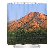 Rising Wolf Mountain At Dawn Shower Curtain
