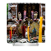 Risning Incense Prayers Shower Curtain