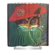 Rita Cat Shower Curtain