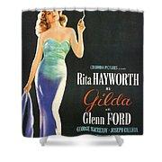 Rita Hayworth As Gilda Shower Curtain