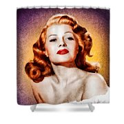 Rita Hayworth, Vintage Actress Shower Curtain