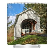 Ritner Creek Covered Bridge 0739 Shower Curtain
