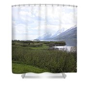 River Along The Rockies Shower Curtain