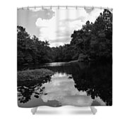 River And Clouds 2 Shower Curtain