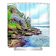 River And Trees Pictures Shower Curtain