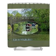 River At Harlow Mill Shower Curtain