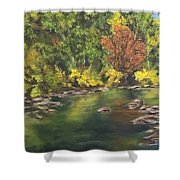River At Hidden Acres 1. Shower Curtain