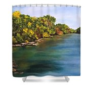 River At Hidden Acres 2. Shower Curtain