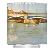 River At Royal Windsor Shower Curtain