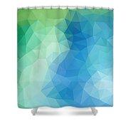 River Bank Geometric Design Shower Curtain