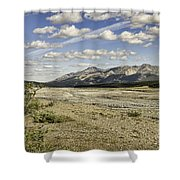 River Bed In Denali National Park Shower Curtain