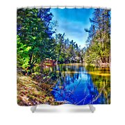River Bend View Shower Curtain
