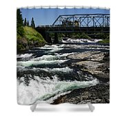 River Bridge Shower Curtain