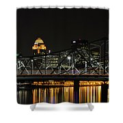 Ohio River Bridges And Louisville Skyline Shower Curtain