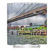 River Cafe Shower Curtain