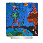 River Dancing Shower Curtain