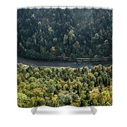 River Dunajec In Pieniny Mountains Shower Curtain