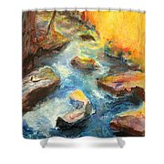 River Fire Shower Curtain