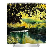 River Houille  Shower Curtain