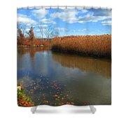 River Hudson Autumn Creek Shower Curtain