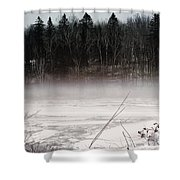River Ice And Steam Shower Curtain