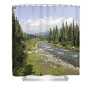 River In Denali National Park Shower Curtain