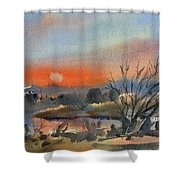 River In March Shower Curtain